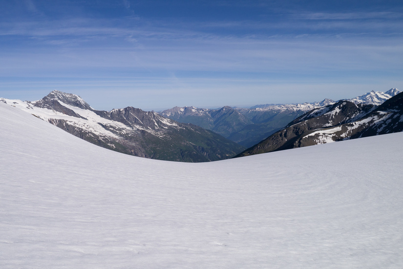 View over the Glacier de la Sassiere