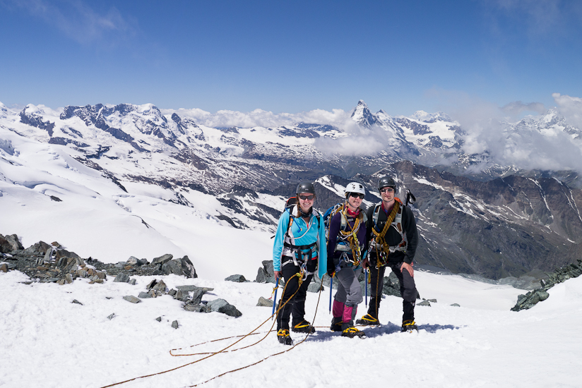 On the descent with the Matterhorn in the background