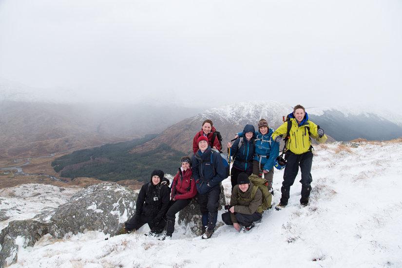 Group photo on the South Ridge of Fraoch Bheinn