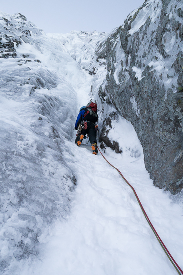 Me climbing the first pitch