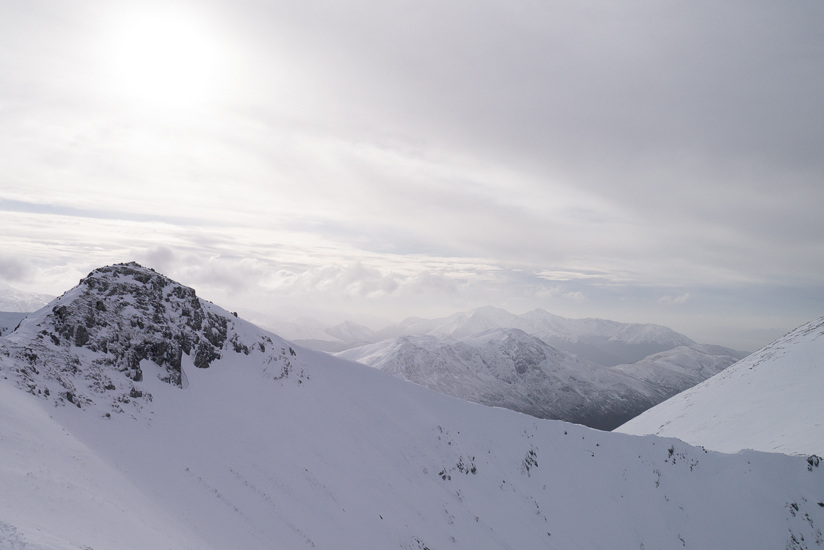 View from the top of the ridge