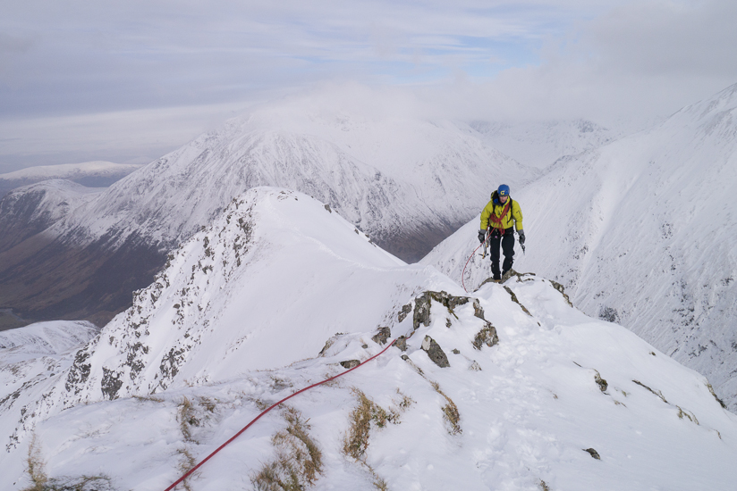 Jon walking along the ridge