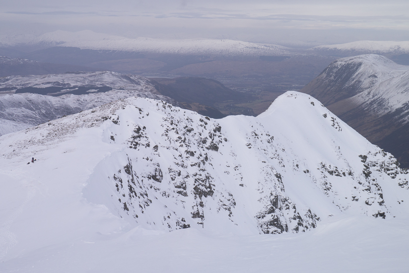 View of the North & North East ridge from the descent off Stob B