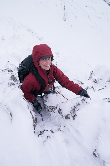 Downclimb from Am Bodach