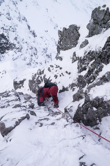 Descending off a pinnacle