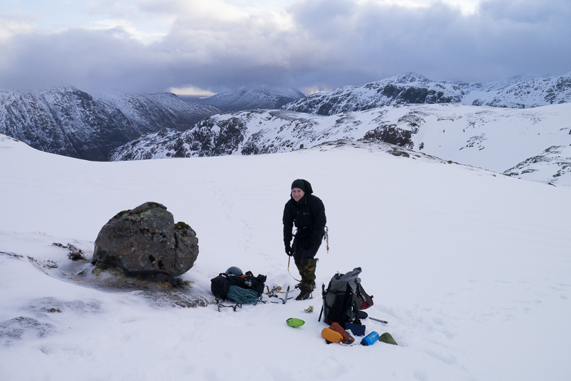 Kitting up in the coire