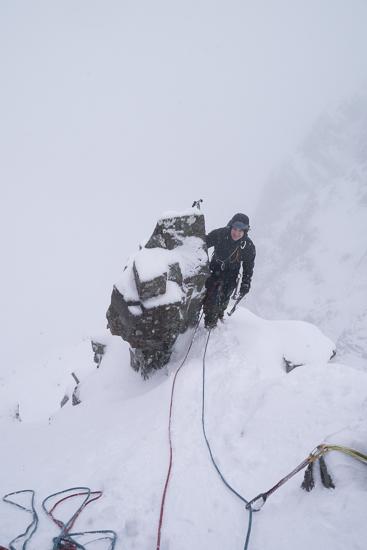 On the ridge in the mist