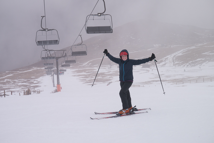 Jenny on the first run of the day