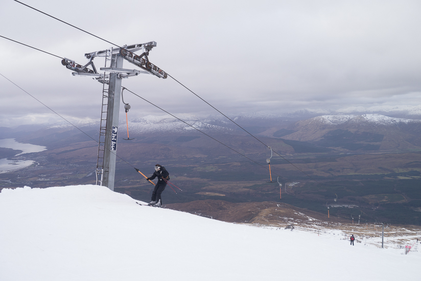 At the top of Goose T-bar