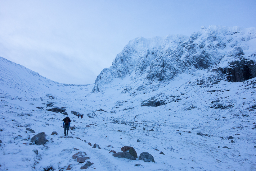 Alpine walk in