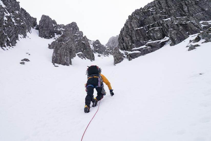 Andy climbing up