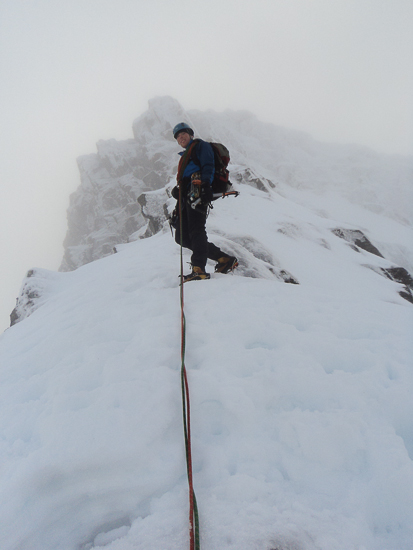 Moving togeather on North East Buttress