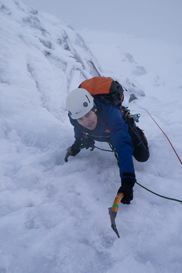 Near the top of the penultimate pitch