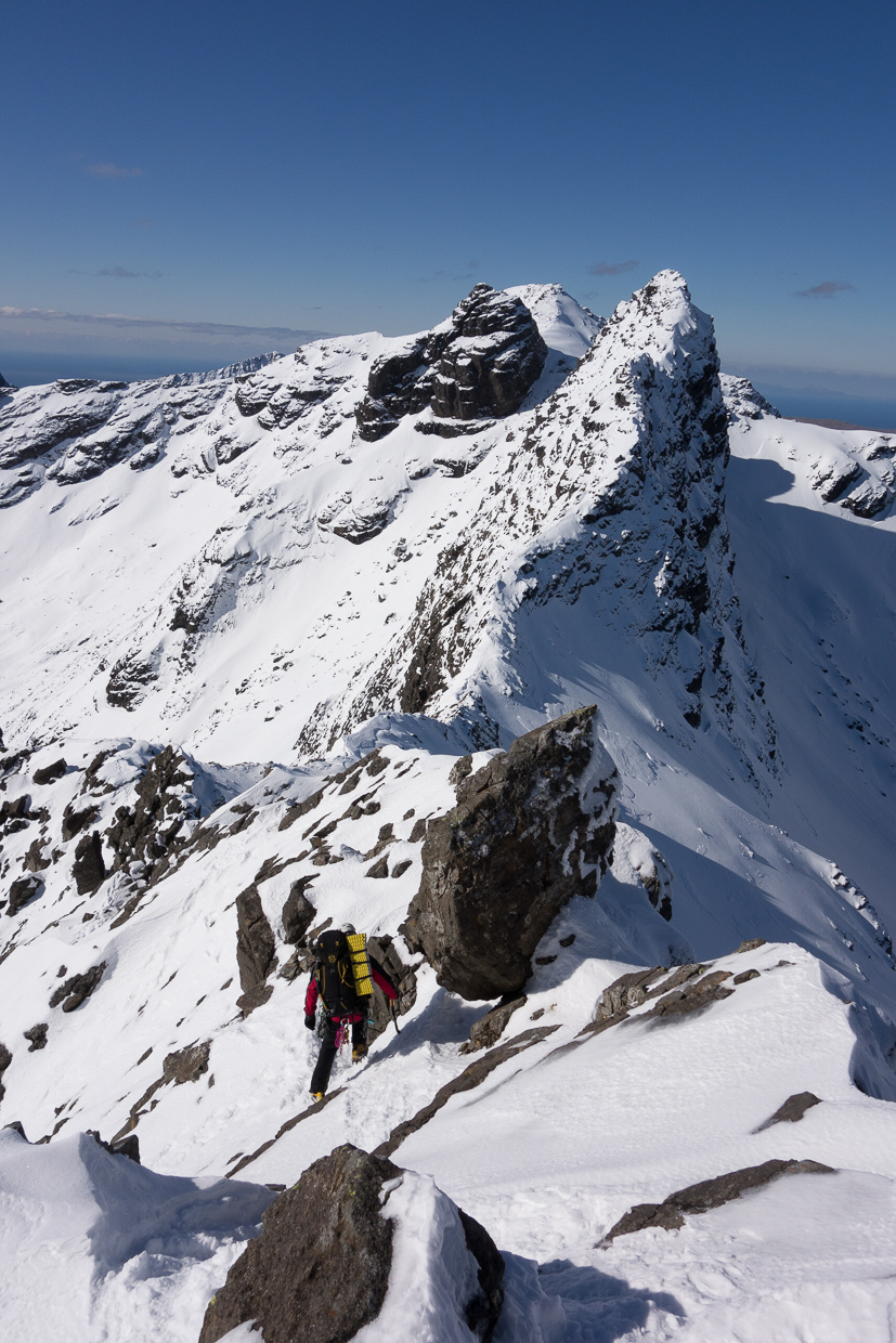 Descending the west ridge of Sgurr nan Gillean