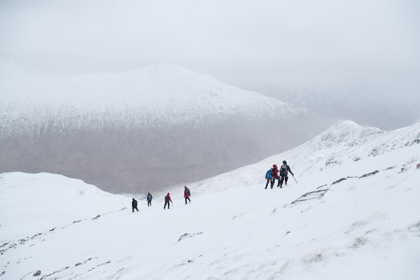 Descending the North West Ridge