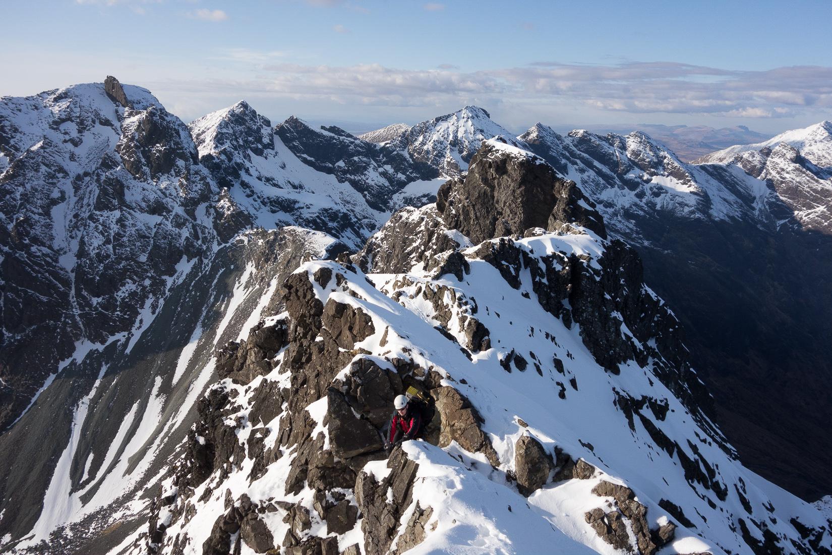 Climbing Sgurr Thearlaich