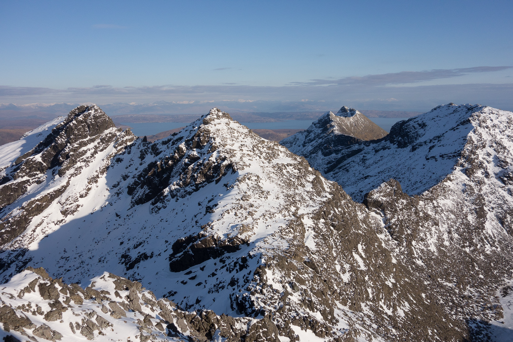 View from the summit of Sgurr Alasdair