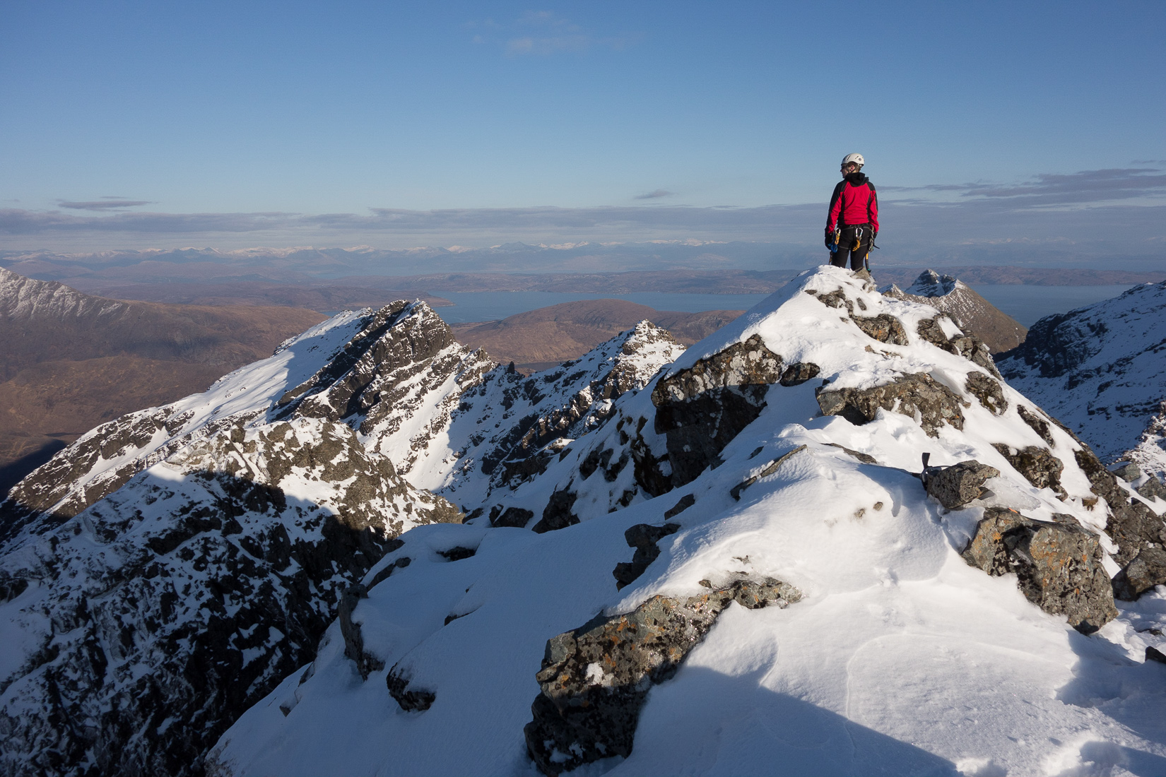 On the summit of Sgurr Alasdair