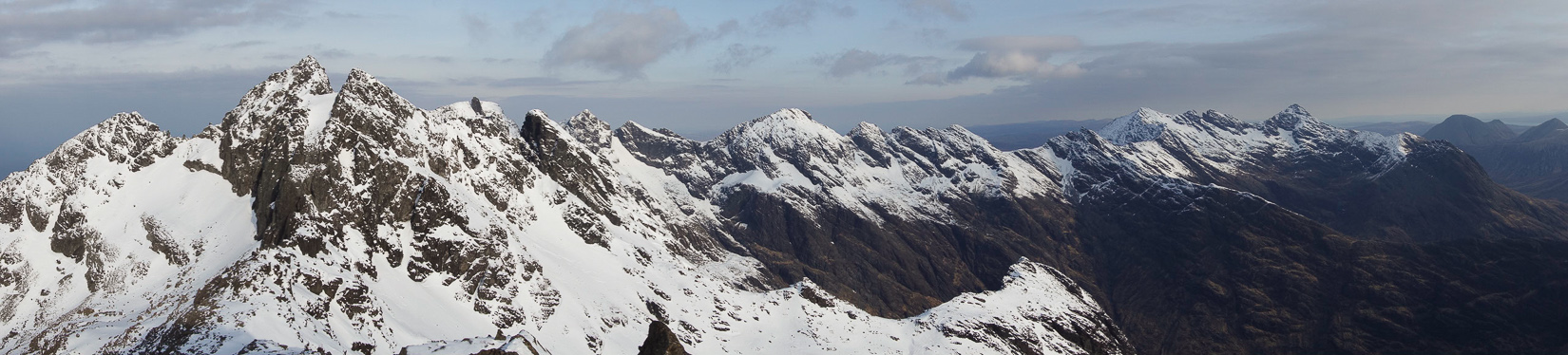 View of the ridge from Sgurr Dubh an Da Bheinn