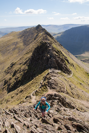 On the final slopes of Striding Edge
