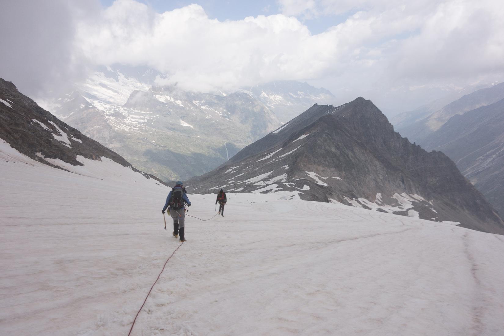 Descending on the Glacier