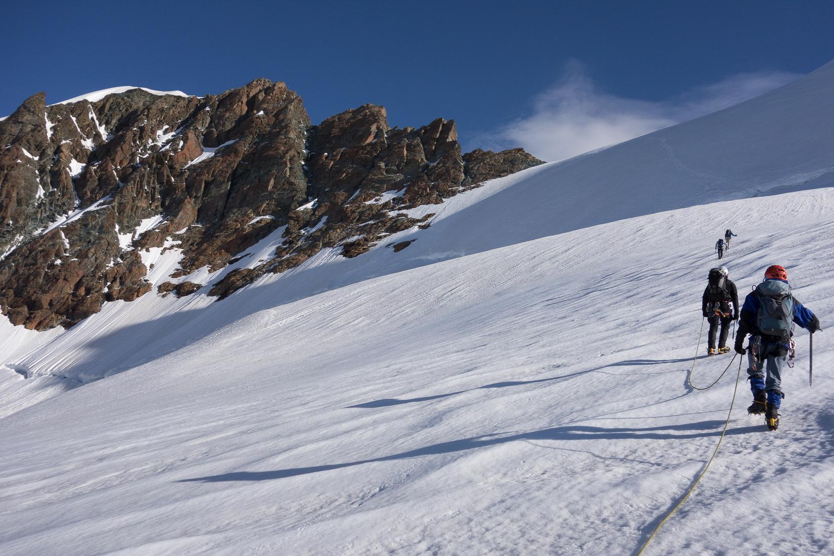 Approaching the bergschrund