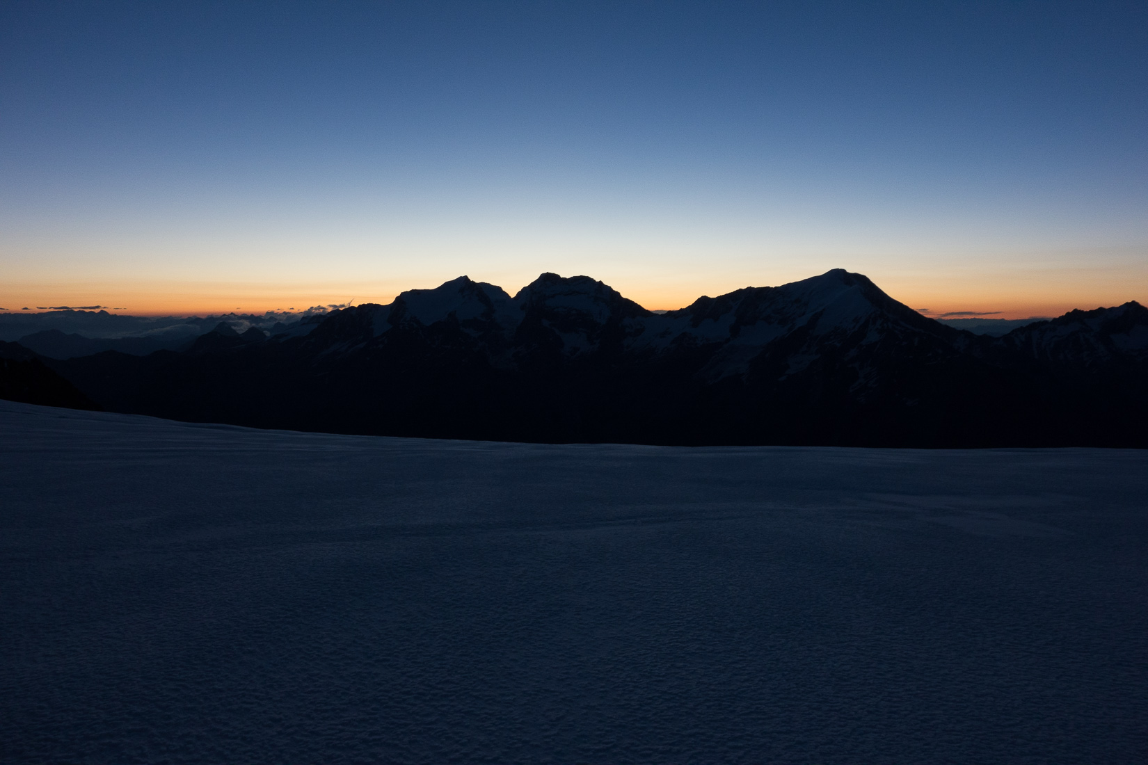 Dawn from the Hohbalmgletscher