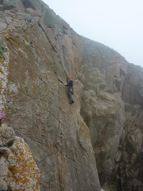 Me on P2 of Horseman's Route (© R Nicholson)