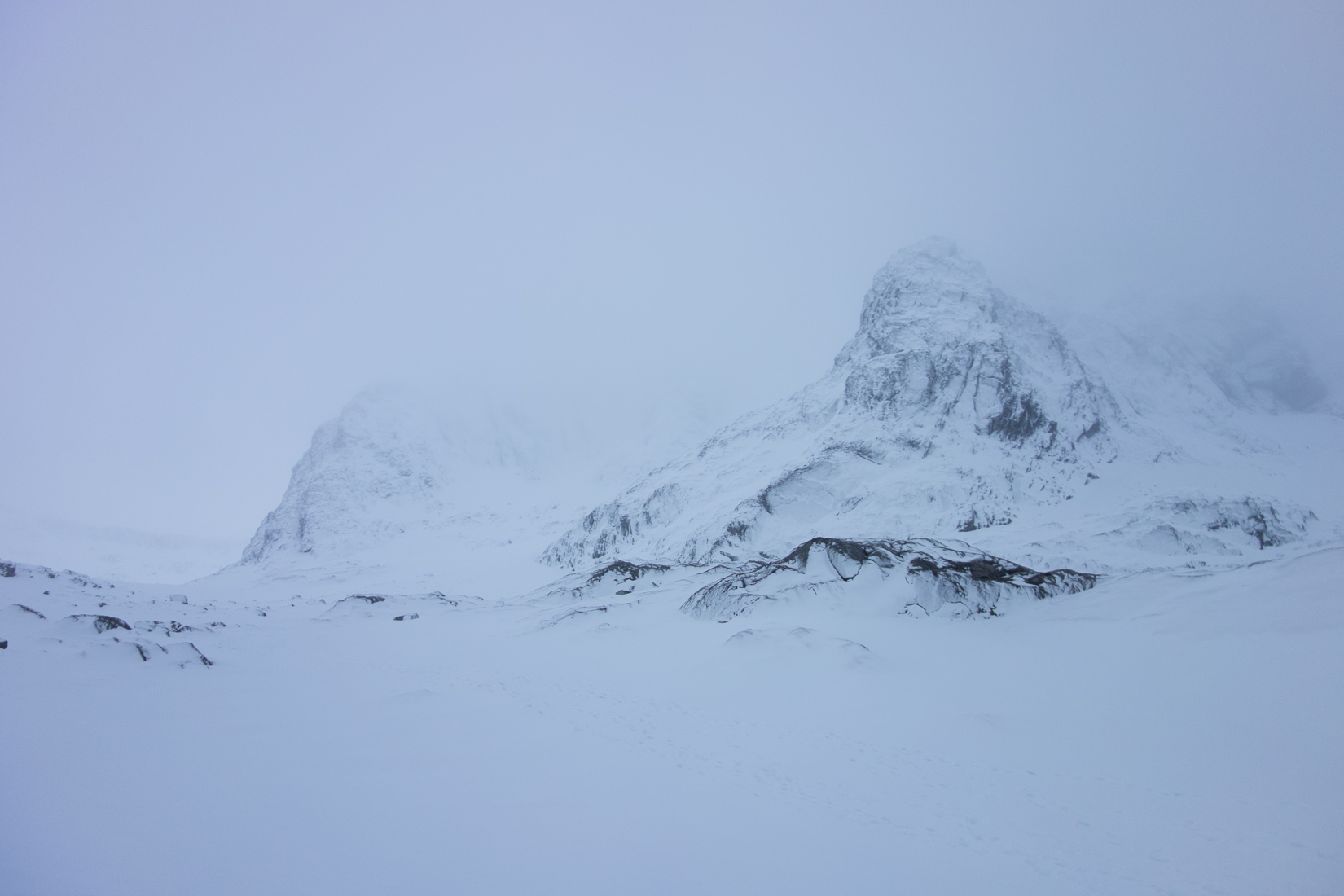 The view from the CIC hut