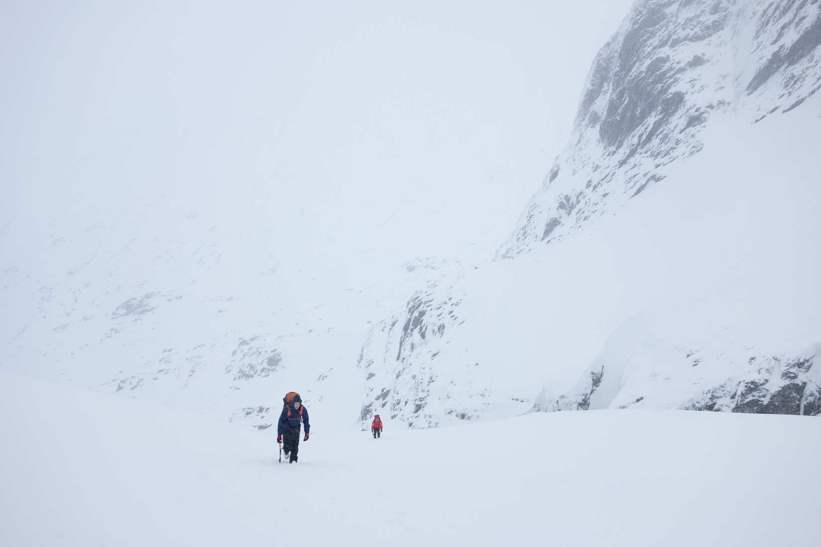 Slogging up to Creag Coire na Ciste