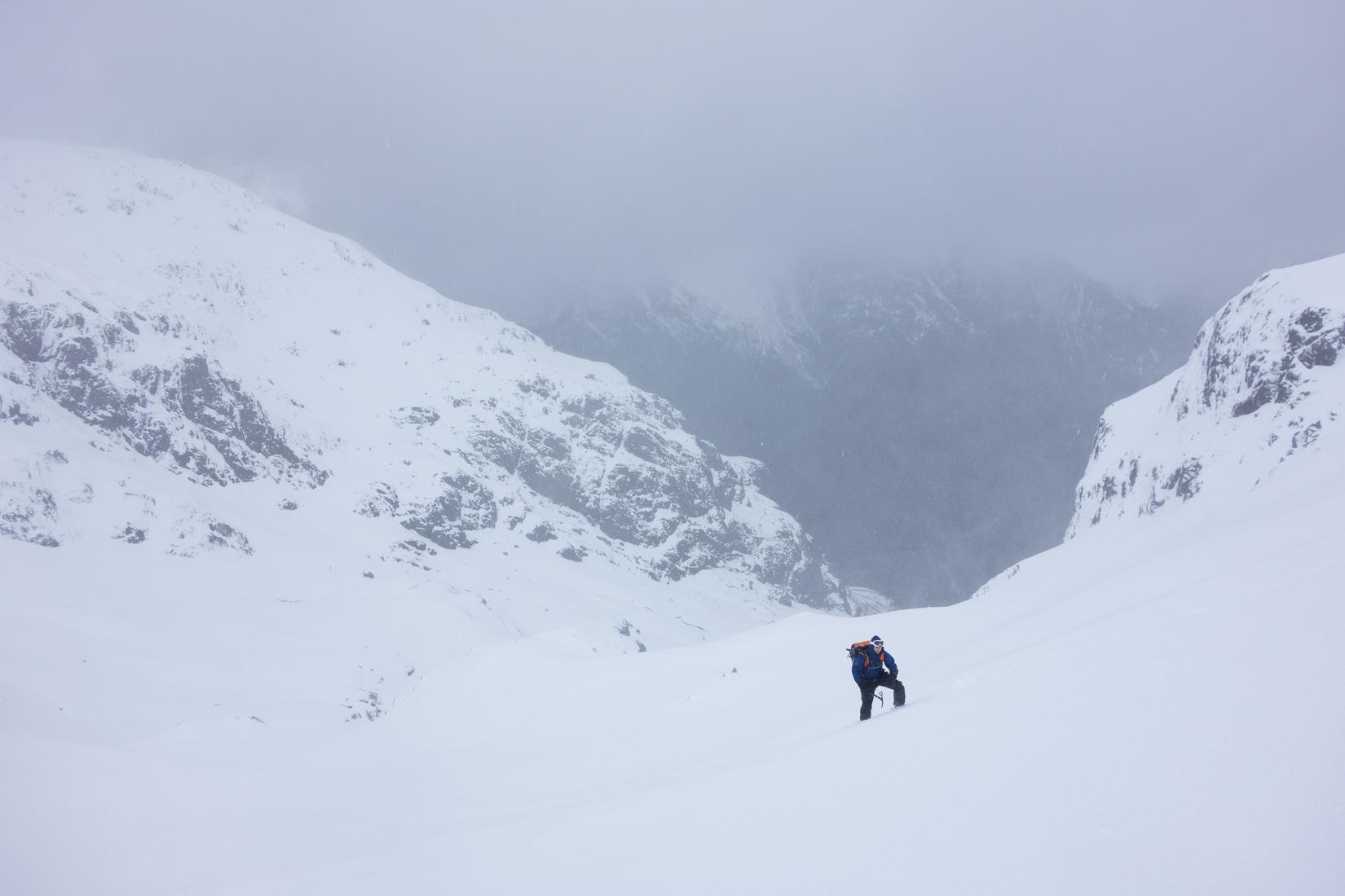 Just below Coire nan Lochan