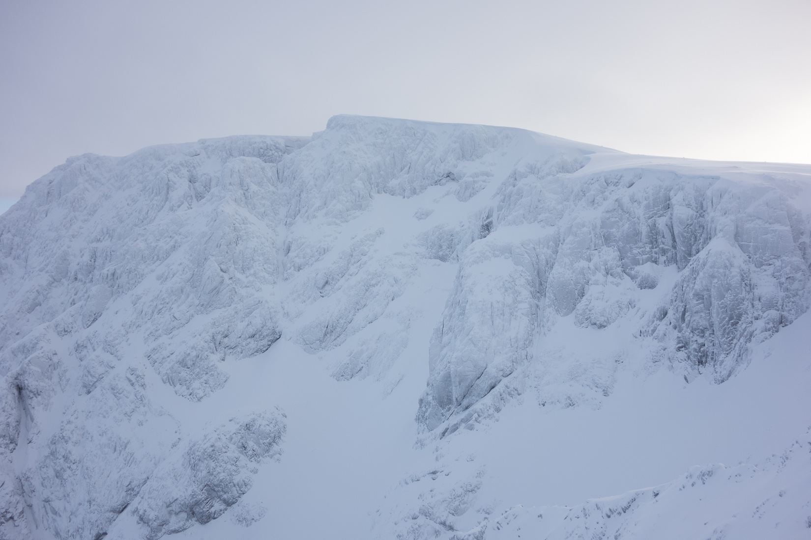 Crags looking white