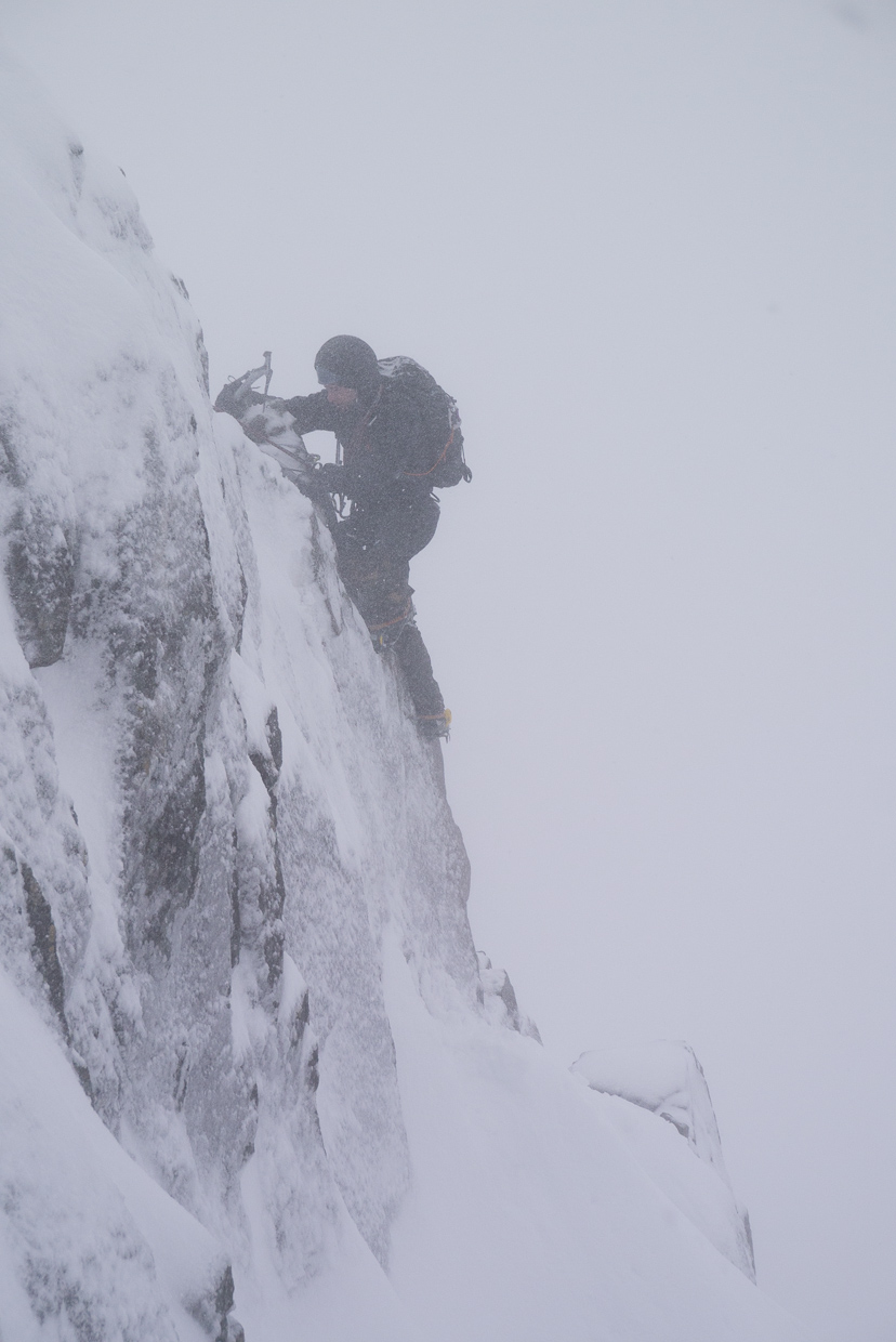 Scottish conditions on Dorsal Arete
