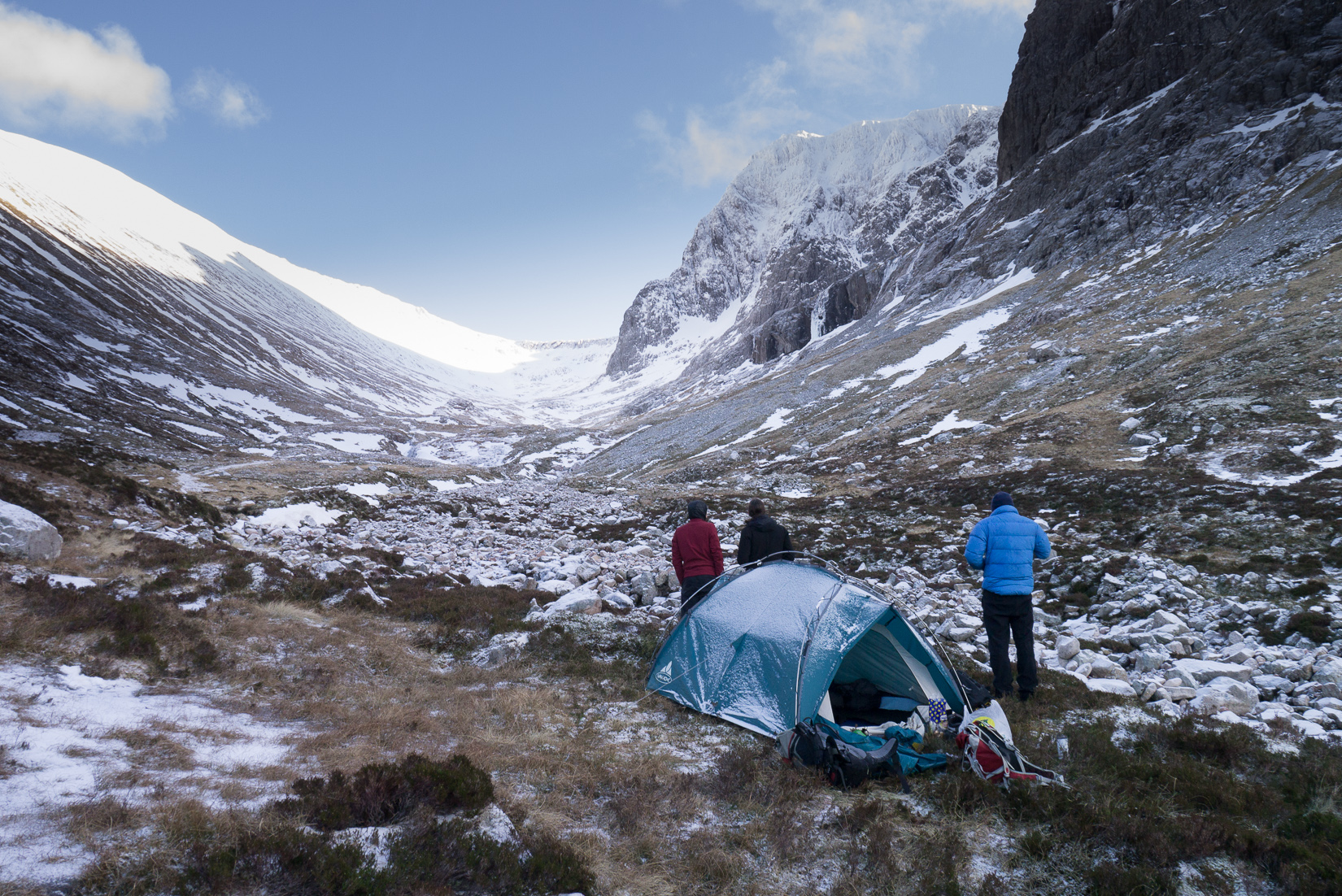 "Our ""Campsite"" below Ben Nevis"