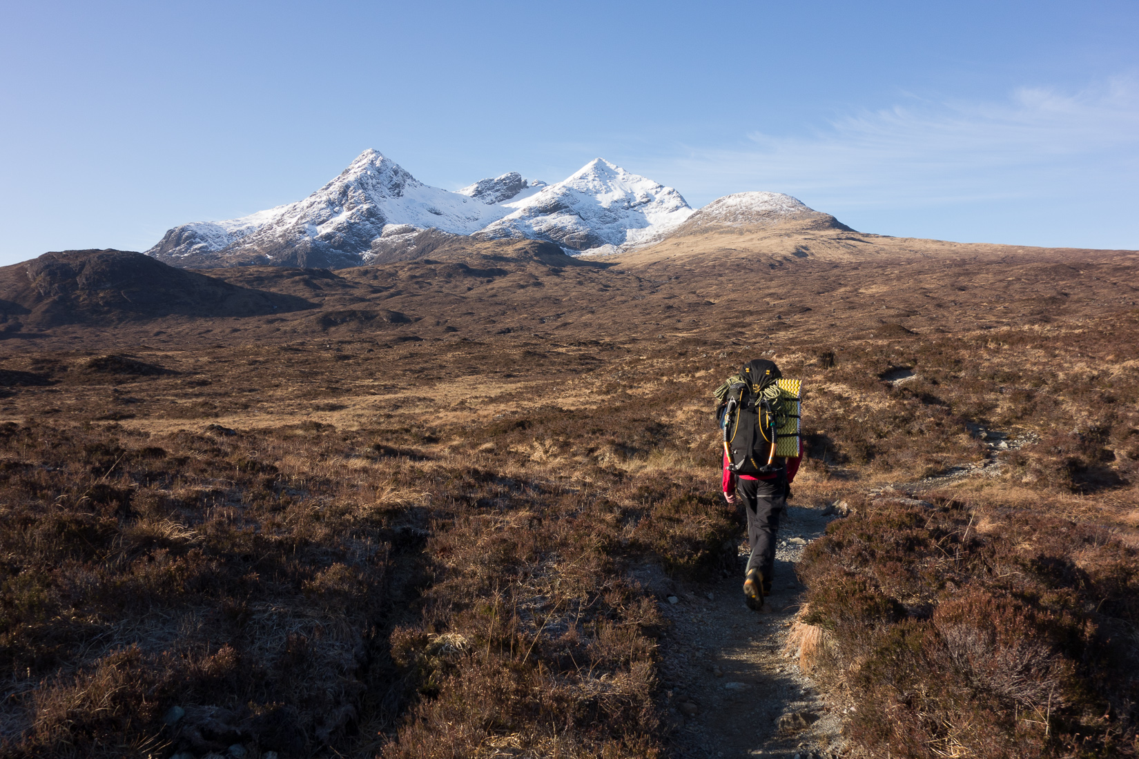 Walking into Sgurr nan Gillean