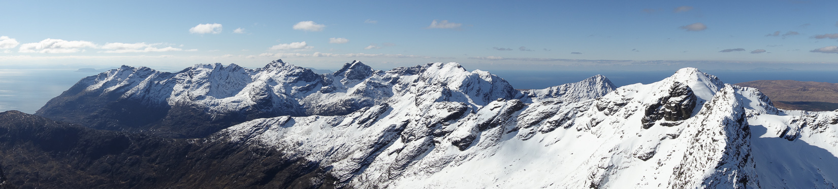 The Cuillin Ridge in Winter