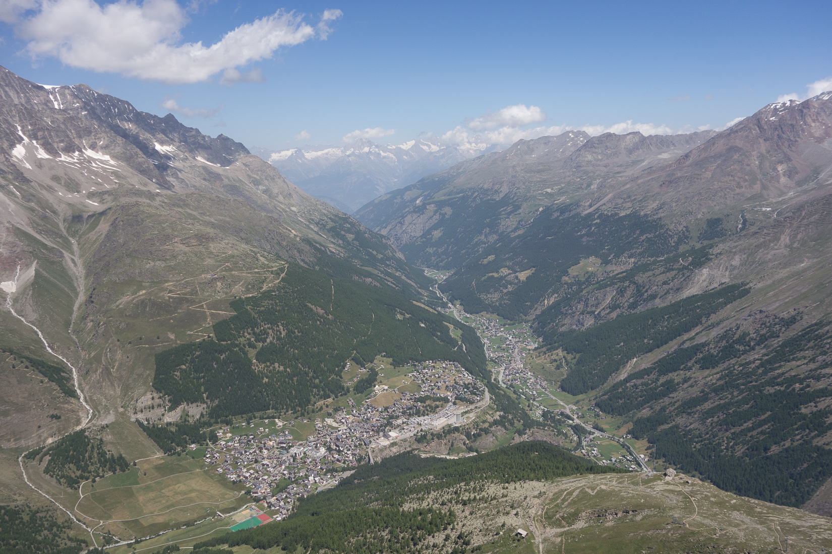 Great view of the Saas Valley