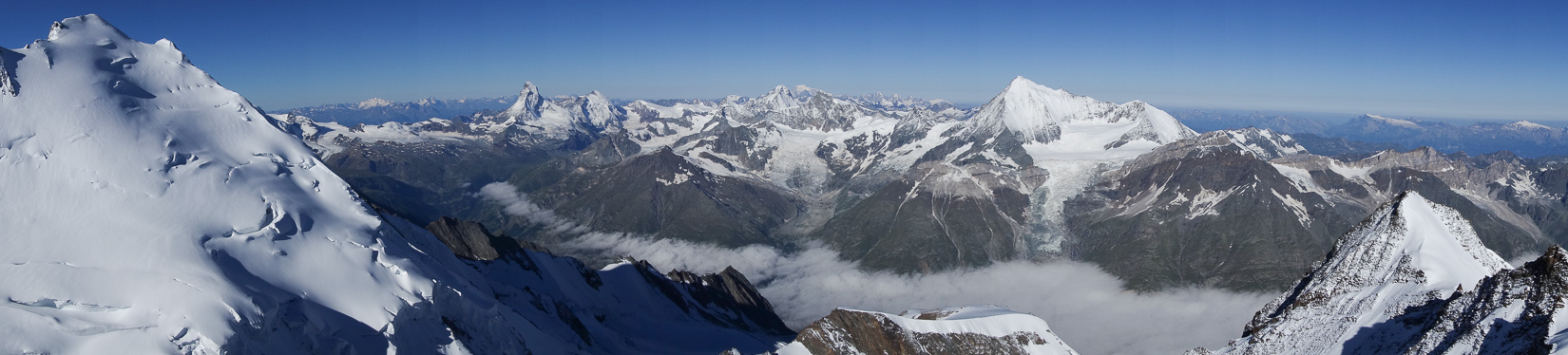 Summit Panorama from the Nadelhorn