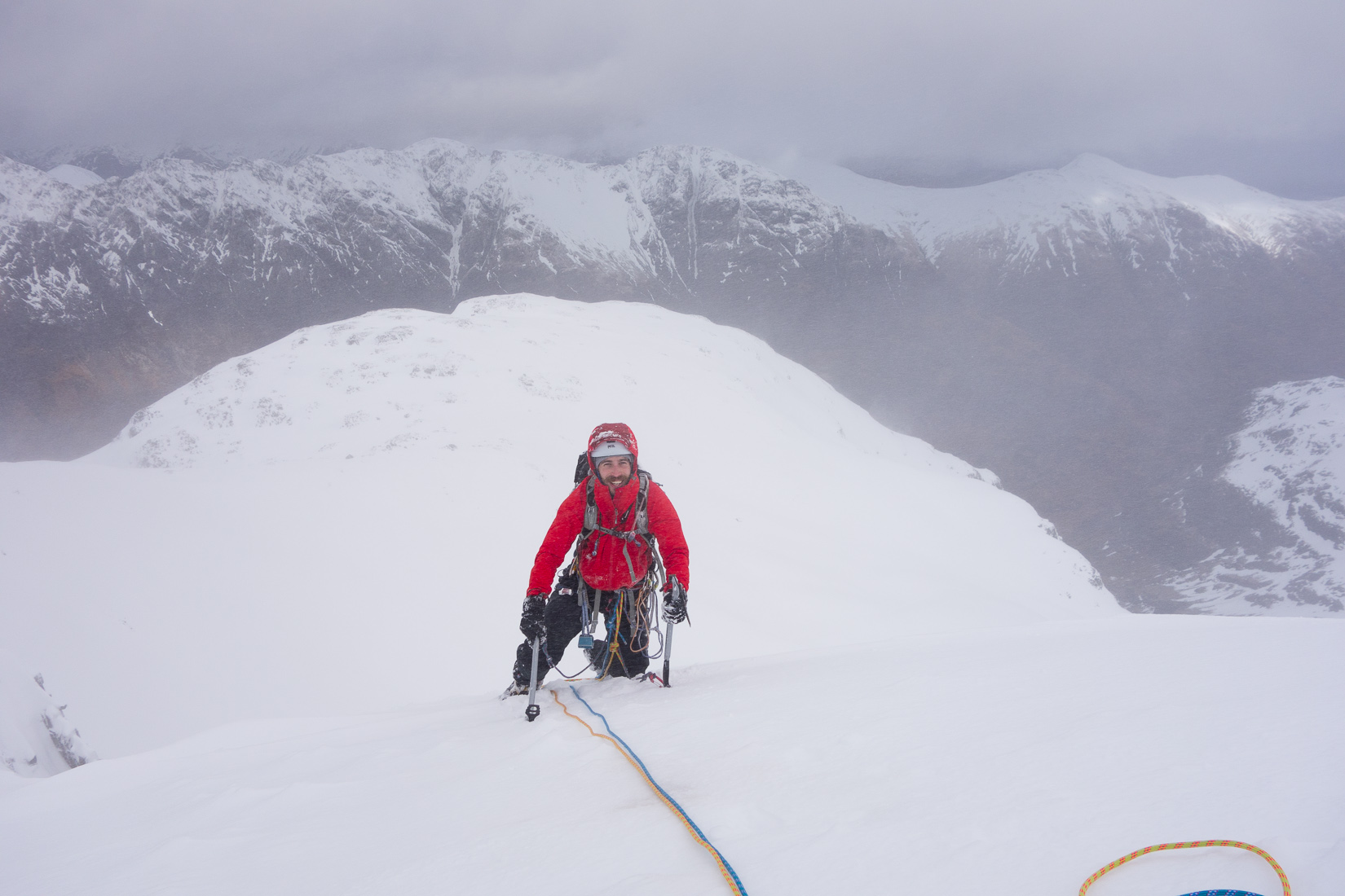 At the top of Raeburn's Route