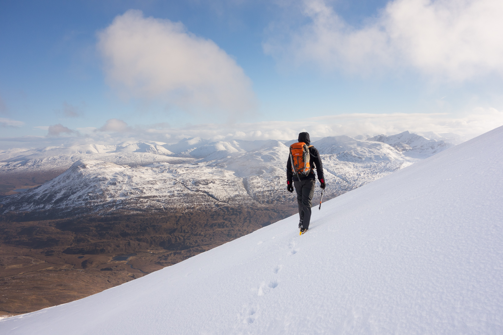 Walking towards the Liathach ridge