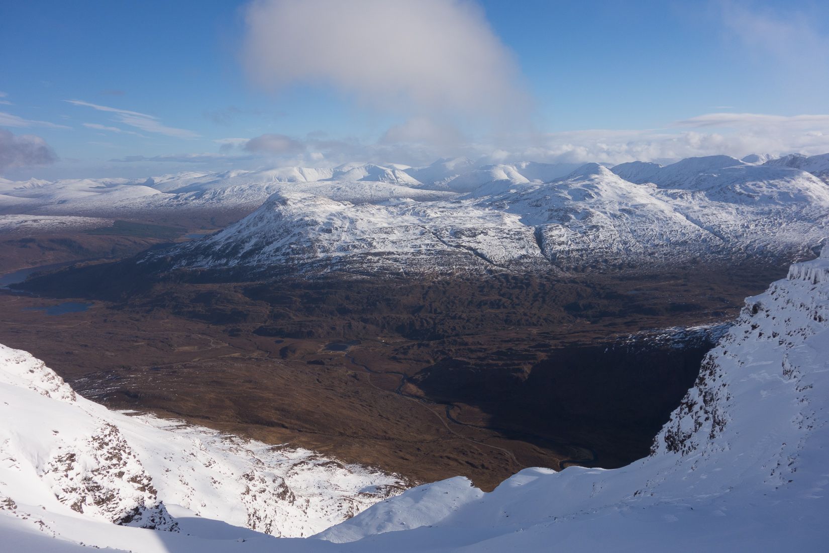 Fantastic view south from the Liathach