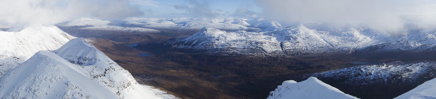 Panorama from the top of Spiderean Choire Leith