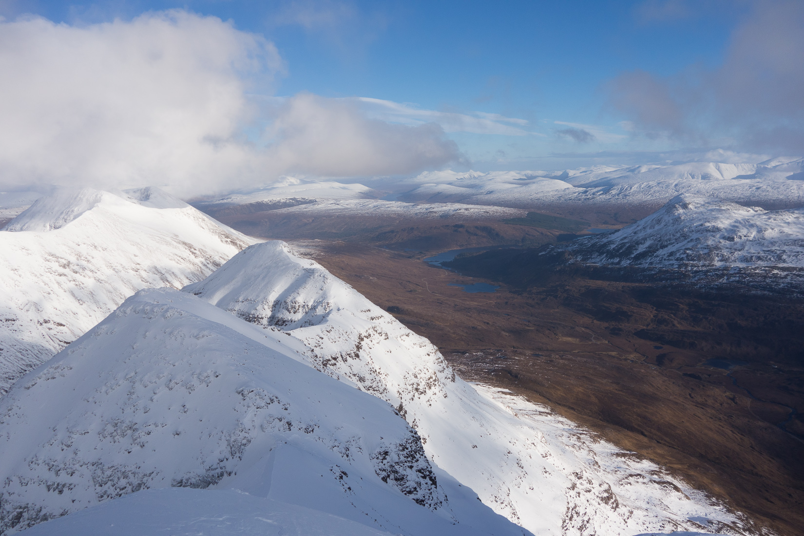 View from the summit of Spiderean Choire Leith
