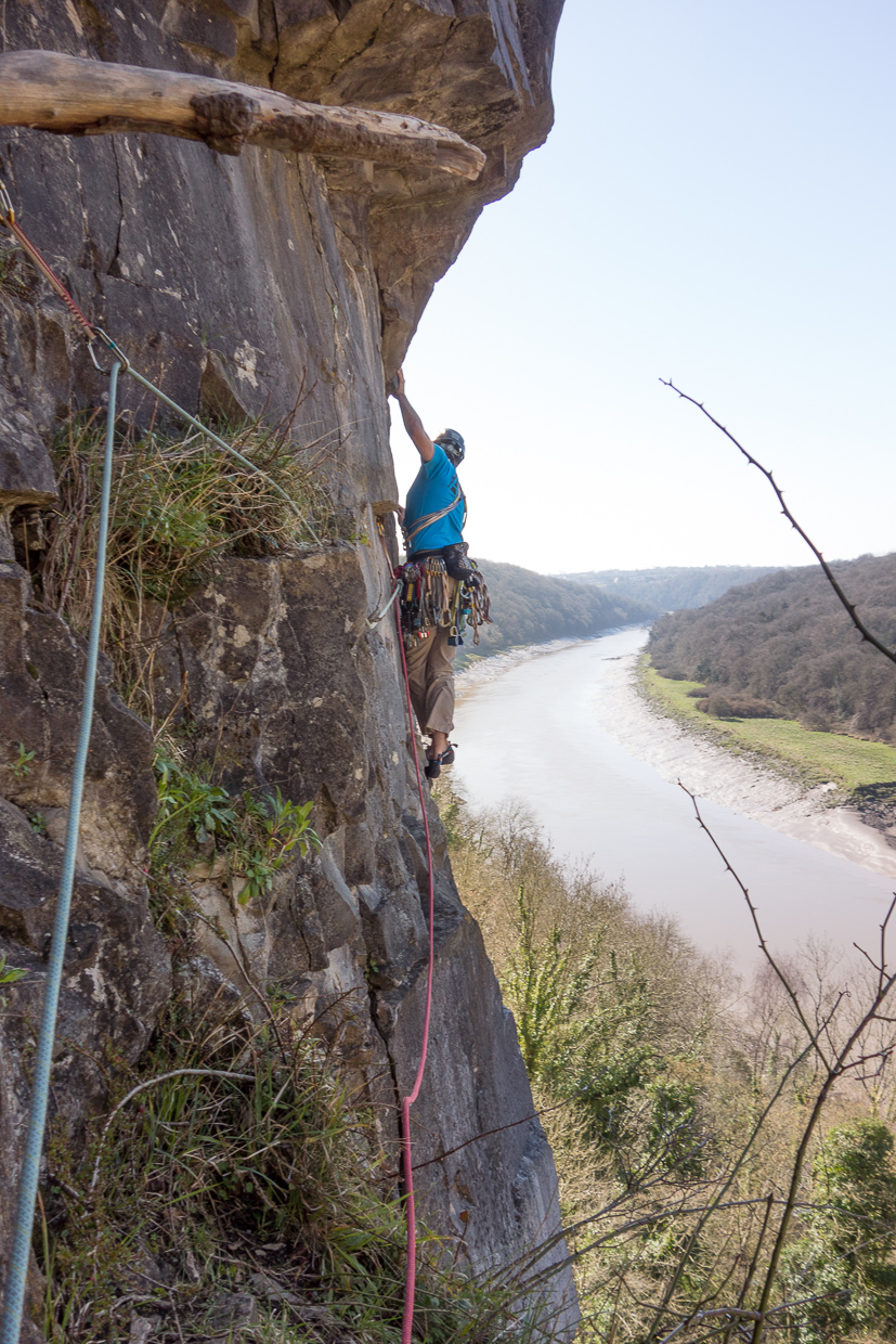 Andrew leading the third pitch of Angel's Girdle
