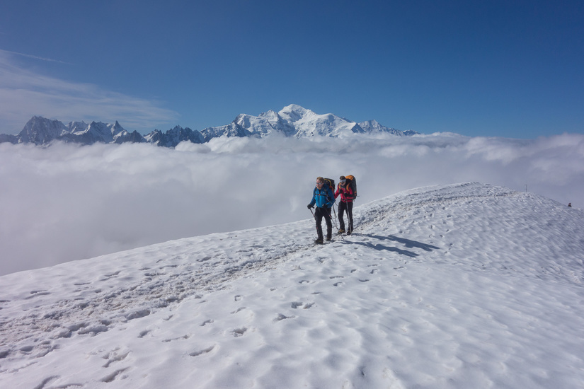 Great conditions aproaching the summit