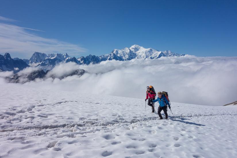 Stunning views of the Chamonix mountains