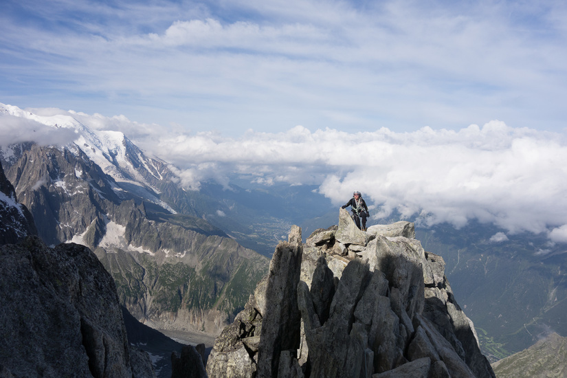 David high above Chamonix