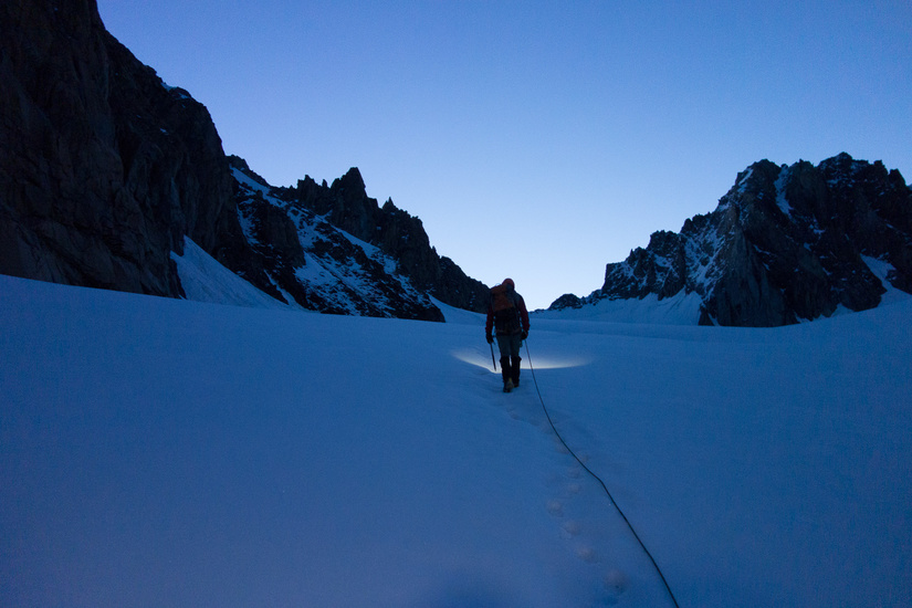 Approaching the route in the dark