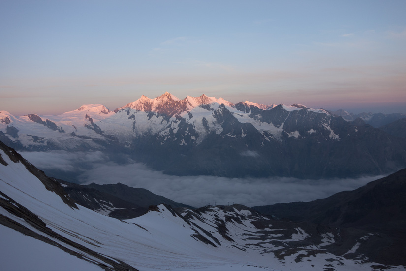 Sunrise over the Saas Valley