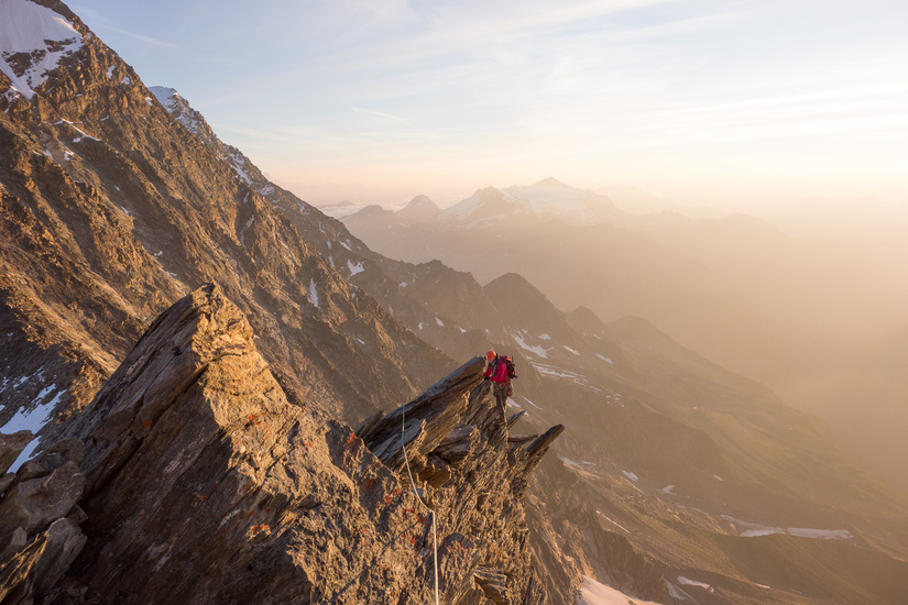 Rich climbing during sunrise